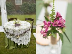 Outdoor Wedding Reception table Setting - Jessica Ryan Photography