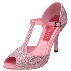 Sparkly pink stripper shoes $149.95