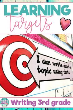These 3rd grade printable Common Core State Standard aligned learning targets are an efficient visual to help your students meet their daily learning objectives in Writing. They are written in kid friendly language using 'I can' statements. These templates can be displayed as a sign on a bulletin board or anywhere else in your classroom. They are also easy to shrink and print for individual student use. Click the link to see the learning targets, and also the success criteria!