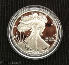 1988 Silver American Eagle Proof Bullion Coin by monetcourt, $72.00