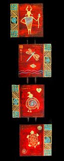 """PAT STACY ART- """"Quadruvium LXXXIV"""" Four Piece Contemporary Abstract Painting by Contemporary Arizona Artist Pat Stacy-http://patstacyart.blogspot.com/2015/02/quadruvium-lxxxiv-four-piece.html"""