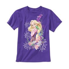 Disney Girls' Rapunzel Graphic Tee ($8) ❤ liked on Polyvore featuring kids clothes and tops