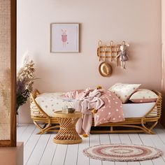 The Harlo Rattan Collection is a stunning way to add a natural touch to your little one's room or play area. The popular rattan design makes this collection timeless. Baby Bedroom, Girls Bedroom, Bedroom Ideas, Rattan Daybed, Adairs Kids, Diy Bed, Little Girl Rooms, Cozy House, Toddler Bed
