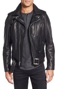 Schott NYC 'Perfecto' Slim Fit Waxy Leather Moto Jacket available at #Nordstrom