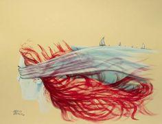 Sea voyage painting by maria bozina saatchi art Art Journal Tutorial, Art Projects For Teens, Surrealism Painting, Fine Art, Art Studios, Illustration, Saatchi Art, Pop Art, Original Paintings