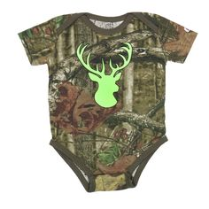 Cody James® Infant's Realtree Camo Buck Head Onesie