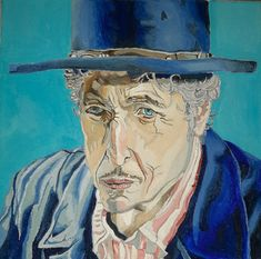 Portrait of Bob Dylan, painted by Roee Lavan, oil on canvas, 2020 Bob Dylan, Oil On Canvas, English, Portrait, Painting, Art, Art Background, Headshot Photography, Painting Art