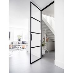 Custom hinged door with hinged hinges Some hardened Taats door on . - Custom-made hinged door with hinged hinges. – Firm Wood & Steel Doors is used in all closed spaces - House Design, House, Interior, Home, Scandinavian Home, House Inspiration, New Homes, House Interior, Steel Door Design