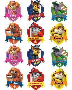 Throw a fun children's birthday party with these paw patrol party ideas! Cupcakes Paw Patrol, Paw Patrol Cups, Paw Patrol Cupcake Toppers, Puppy Patrol, Paw Patrol Cake Decorations, Imprimibles Paw Patrol, Paw Patrol Clipart, Paw Patrol Stickers, Cumple Paw Patrol