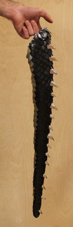 Black tail with spikes and yellow belly by ~DracoLoricatus - CAN I PLEASE HAVE ONE OMG?