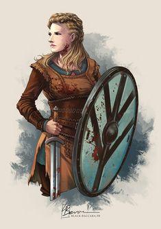 [Fanart] Lagertha - Vikings by LauraBevon.deviantart.com on @DeviantArt