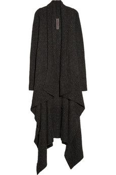 RICK OWENS  Draped knitted cardigan