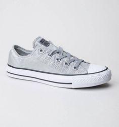 b5ca5e554997 Gray Silver Converse Low Top Wash Mono Custom Grey w  Swarovski Crystal  Rhinestone Grey Chuck Taylor