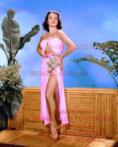 JEAN PETERS TECHNICOLOR CONVERSION BY BEDAZZZLED FROM B/W PRINT Classic Actresses, Actors & Actresses, Vintage Hollywood, Classic Hollywood, Most Beautiful Women, Beautiful People, Jean Peters, Howard Hughes, Nose Art