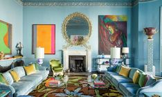 Francis Sultana Breathes New Life Into a Storied London Residence For Himself and Partner David Gill — Architectural Digest Architectural Digest, Home Designer, Old Apartments, Melbourne House, Mirror Painting, Dining Room Walls, Modern Materials, Commercial Interiors, New Life