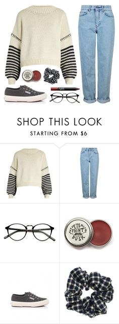"""Buffy"" by soym ❤ liked on Polyvore featuring Sportmax, Topshop, Superga and NARS Cosmetics"