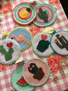 Crochet Potholders cactus