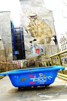 street art - Paris 20 - rue de belleville