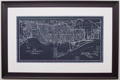 Check out this awesome image, which comes to us from our friends at KENT Picture Framing who used a moulding from our Ramino collection to beautifully frame this vintage city plan of Toronto!