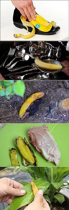 15 невероятных применения банановой кожуры, о которых вы скорее всего не знали | STENA.ee