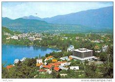 Slovenia Bled Golf Hotel Jugoslavija Aerial View Lake - Postcard