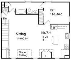 One Bedroom Cottage Plans international house 1 bedroom floor plan: top view | decorating