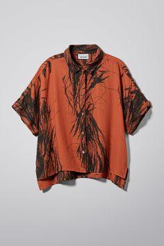 2f60b0bed698 zoomed image Denim Shirt, Crop Shirt, Orange Shirt, Cuff Sleeves, Shirt  Blouses