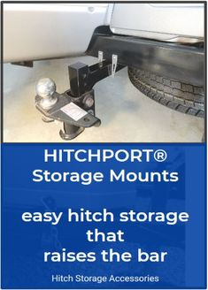 Why Struggle With a Greasy Hitch? HITCHPORT Storage Mounts store your weight distribution hitch on the trailer tongue. Secure with a deadbolt lock or python cable lock.  #rv #rving #rvers #homeiswhereyouparkit #traveltrailer #rvlife #rvliving #airstreamlife #rvlifestyle #optoutside #traveltrailerlife #weight distribution hitch #weight distribution hitch products