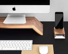WoodUp OLYMP Wooden monitor stand for iMac