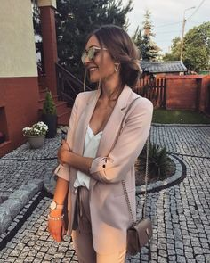43 Office Outfits Highlight the Independent Side of Women suit, work outfits, office, handsome, work Business Casual Outfits, Professional Outfits, Office Outfits, Business Fashion, Classy Outfits, Chic Outfits, Summer Outfits, Formal Outfits, Business Style