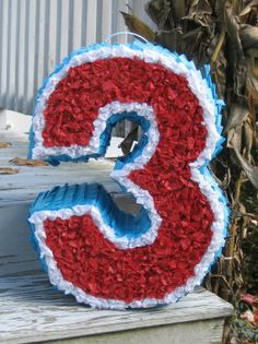 Number Birthday Pinata Made To Order by MommyDo on Etsy
