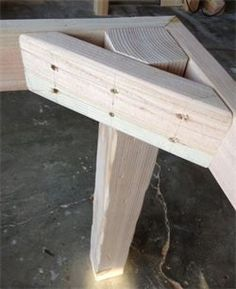 Farmhouse table leg and frame example. No link: