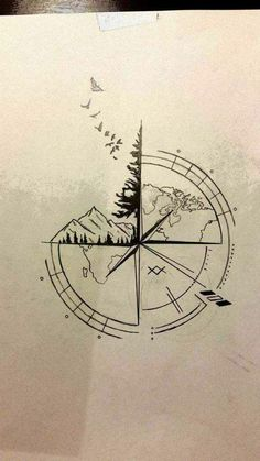 ▷ 1001 + ideas for a beautiful and meaningful compass tattoo 65 ideas . - ▷ 1001 + ideas for a beautiful and meaningful compass tattoo 65 ideas for a … – ▷ 1001 + id - Nautical Compass Tattoo, Small Compass Tattoo, Compass Art, Compass Tattoo Design, Compass Rose, Mens Compass Tattoo, Compass Drawing, Nautical Tattoos, Mini Tattoos