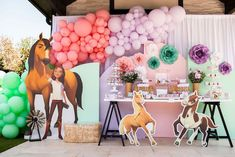 Spirit Pastel Horse Birthday Party on Kara's Party Ideas   KarasPartyIdeas.com