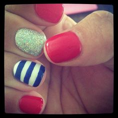 Blue stripes for anchor nails