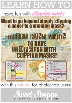 This digital scrapbooking tutorial will teach you how to have fun with clipping masks in Photoshop.