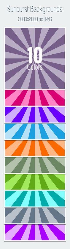 10 Free Sunburst Backgrounds