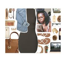 """"""""""" by eniola29 ❤ liked on Polyvore featuring S'well, Michael Kors, None the Richer, Billabong, Retrò, River Island, Mimco, Maybelline, Chanel and Estée Lauder"""