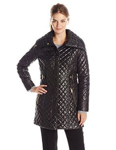Women's Quilted Lightweight Jackets - Via Spiga Womens Lightweight Quilted Jacket with Side Tabs ** Read more reviews of the product by visiting the link on the image.