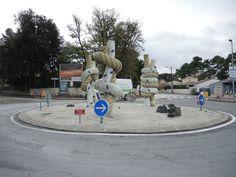 Saint-Georges-de-Didonne, rond-point des noeuds. Charente-Maritime