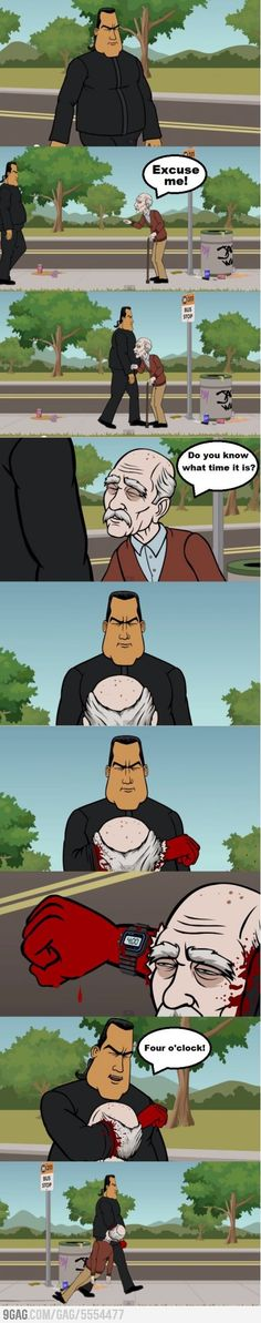 Never ask Steven Seagal the time