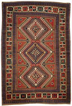 Lot 4074, A KAZAK RUG, Caucasus size approximately 5ft. 2in. x 7ft. 7in. Bonhams Fine Oriental rugs & Carpets 20 October 2014