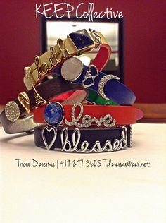 Crowd favorites pictured here.  TRICIA DZIERWA   Founding Independent Designer, KEEP Collective ~ E   tdzierwa@bex.net ~ Facebook   https://www.facebook.com/TriciaDzierwaJourney ~ http://www.keep-collective.com/with/Tricia      #bracelets #jewelry #personalized #KEEPcollective #KEEPsisters #christmas