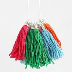 How to Make Tassels with Wire Wrapped Caps