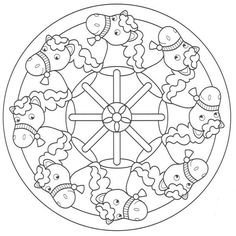 Diferents models mandales de CAVALL Mandala Coloring Pages, Colouring Pages, Coloring Books, Colorful Drawings, Colorful Pictures, Doodle Pages, Printable Adult Coloring Pages, Horse Crafts, Canvas Designs