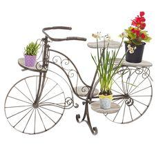 Vélo Porte Plante Décoratif Jardinière En Bois Chêne Et F Https - Amazon porte velo