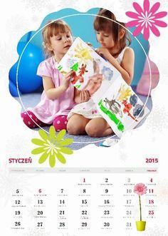Fotokalendarz ze zdjęciami dziecka projekt izziBook.pl