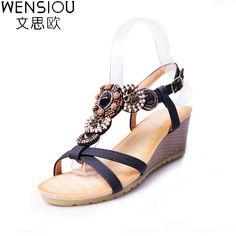 summer Women Sandals Bohemia high platform comfortable Beach Sandal Flip Flops casual shoes Sandals women 2017. Click visit to buy #WomenMiddleHeels