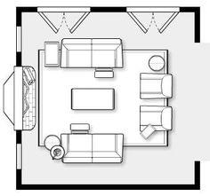 15 Amazing Furniture Layout Ideas To Arrange Your Family Room 15 Family Room Furniture, Living Room Furniture Arrangement, Furniture Layout, Arrange Furniture, Furniture Ideas, Furniture Showroom, Outdoor Furniture, Repurposed Furniture, Industrial Furniture