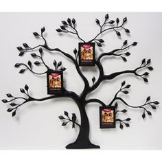 Better Homes and Gardens Metal Family Tree with 3 Mini Bronze Hanging Frames, Oil-Rubbed Bronze: Decor : Walmart.com